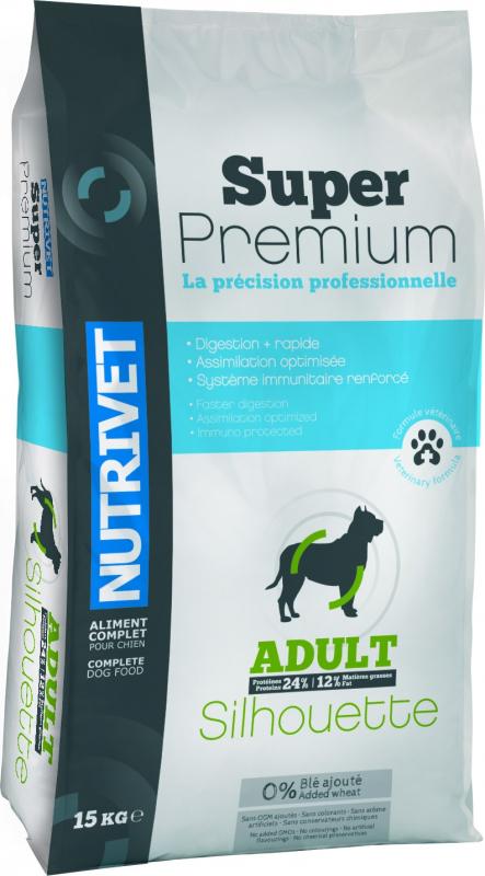 NUTRIVET Super Premium Silhouette Volaille pour chien adulte