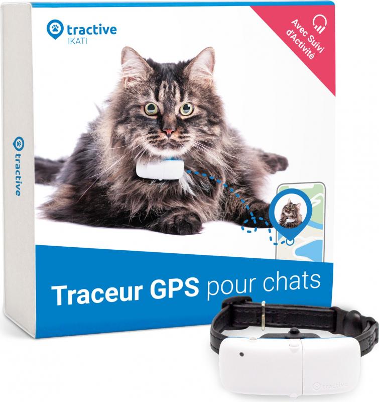 Tractive traceur GPS pour chats avec suivi d'activité