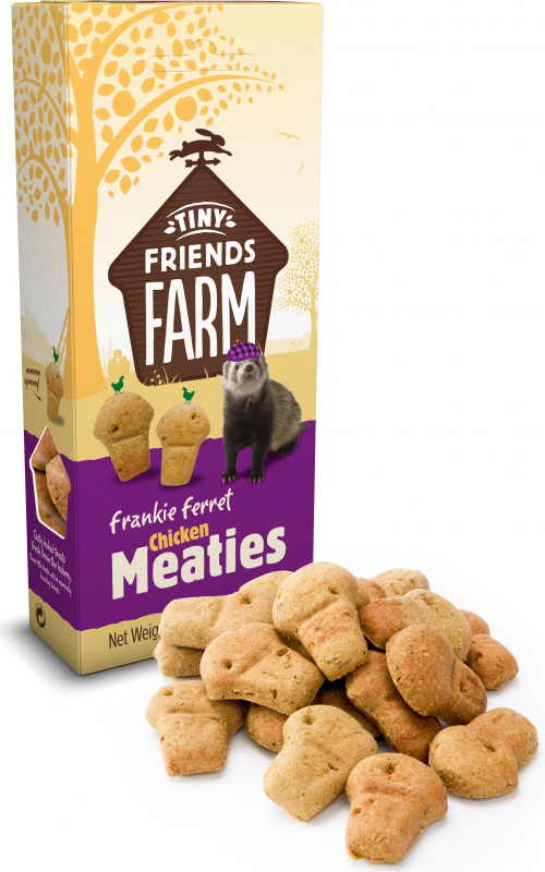 Friandise TINY FRIENDS FARM Biscuits pour furet au poulet