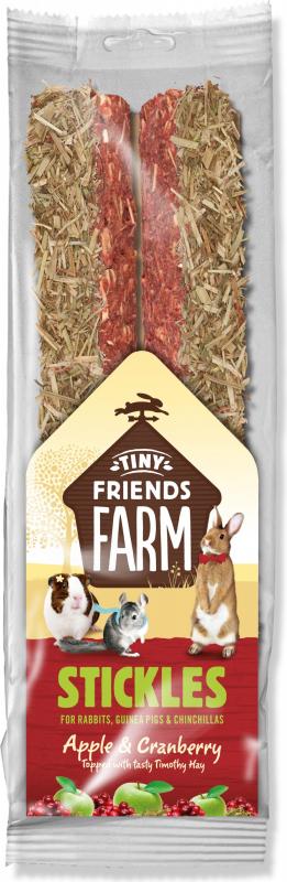 Friandise TINY FRIENDS FARM Bâtonnets à la pomme et cranberries