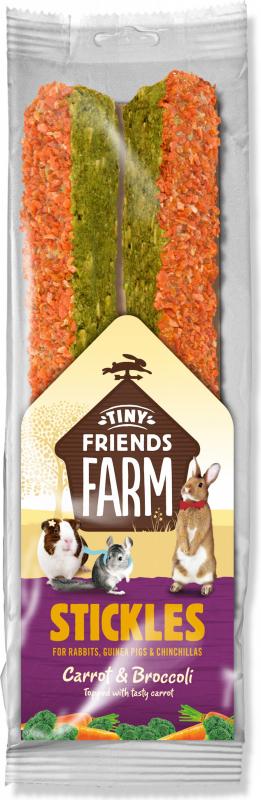 Friandise TINY FRIENDS FARM Bâtonnets à la carotte et au brocoli