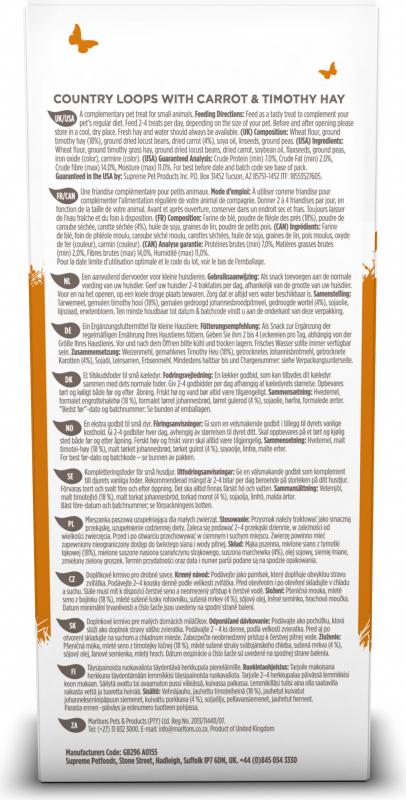 Friandise Selective Anneaux pour lapin - Foin de fléole & carottes