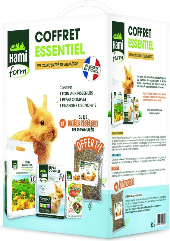 Hamiform Coffret Essentiel pour jeune lapin et lapin toy