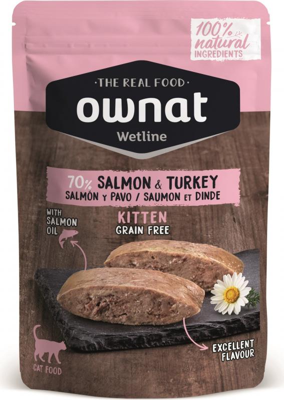 OWNAT Wetline Saumon et Dinde pour chaton