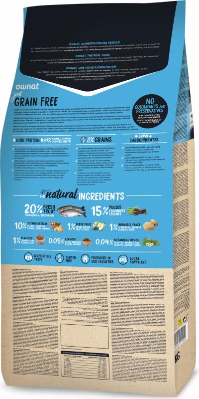 OWNAT Just Grain Free Truite pour chien