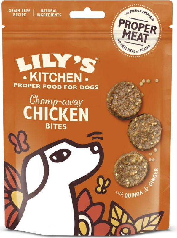 LILY'S KITCHEN Chomp-away Chicken Bites pour chien