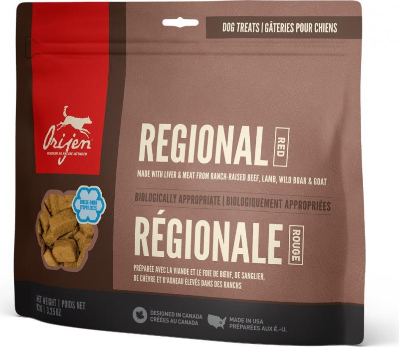 ORIJEN Friandises Regional Red, boeuf, agneau, sanglier et porc pour chien