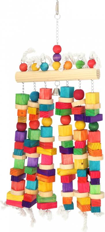 Grand jouet pour perroquet Zolia