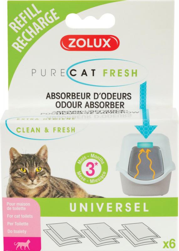 Recharge pour kit anti-odeurs PureCat Fresh - 6 sachets