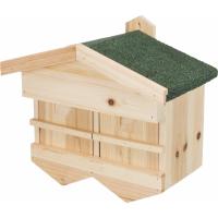 Casa de passaros para pardais e cascalho de madeira Trixie
