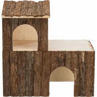 Maison en bois naturel pour rongeur Natural Living Letti