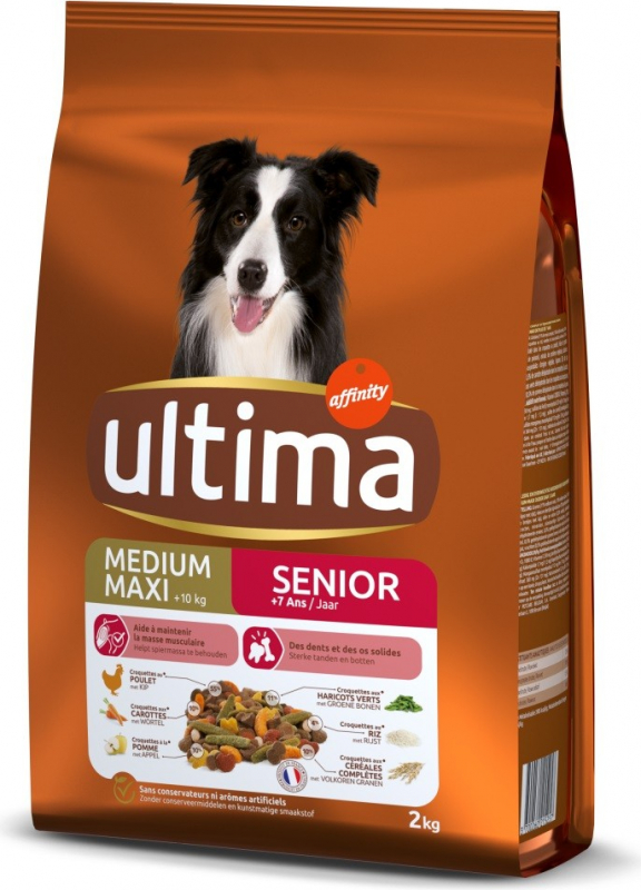 Affinity ULTIMA Medium-Maxi Senior Poulet pour chien
