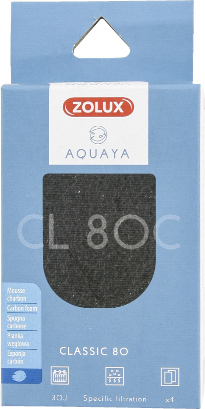Mousse charbon pour filtre Classic Aquaya