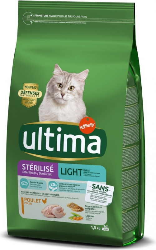 Affinity ULTIMA Stérilisé Light in fat Poulet pour chat