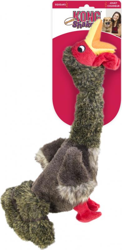 Jouet pour chien KONG Peluche Dinde Shakers Honkers Turkey