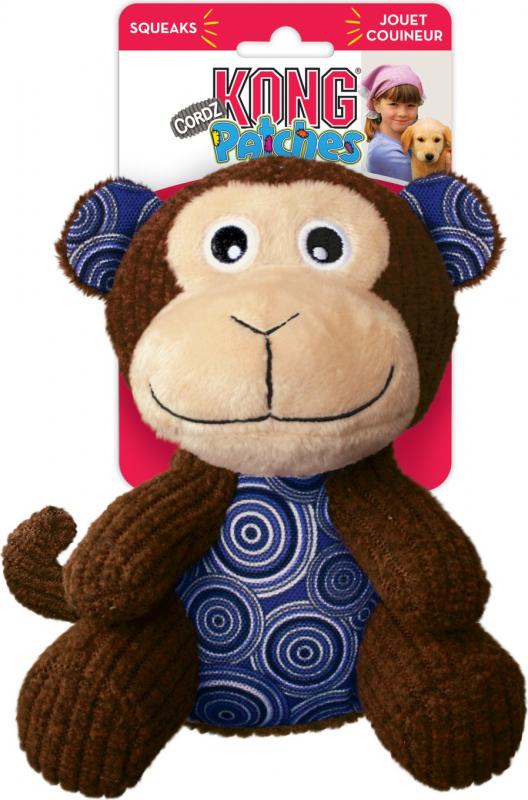 Jouet pour chien KONG Peluche Patches Cordz Monkey