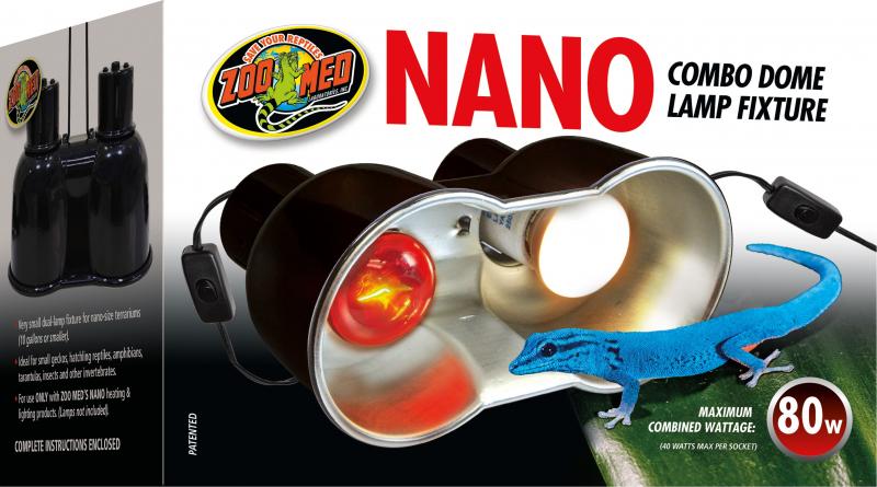 Support de lampe double dôme nano pour terrarium ZooMed