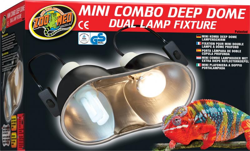 Support de lampe double avec réflecteur pour terrarium ZooMed