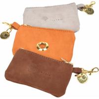 Distributeur sacs à crotte Fantail cuir Nubuck
