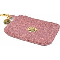 Distributeur sac à crotte Fantail tissus rose pour chien