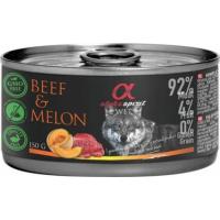 ALPHA SPIRIT Alimentation humide complète en boîte pour chiens au Boeuf et Melon