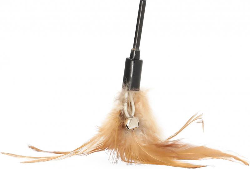 Plumeau avec clochette pour chat Zolia