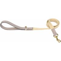 Correa Fantail piel de cordero y cuerda gris y beige