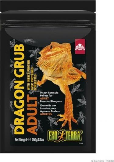 Exo Terra Dragon Grub Granulés à base d'insectes pour dragons barbus