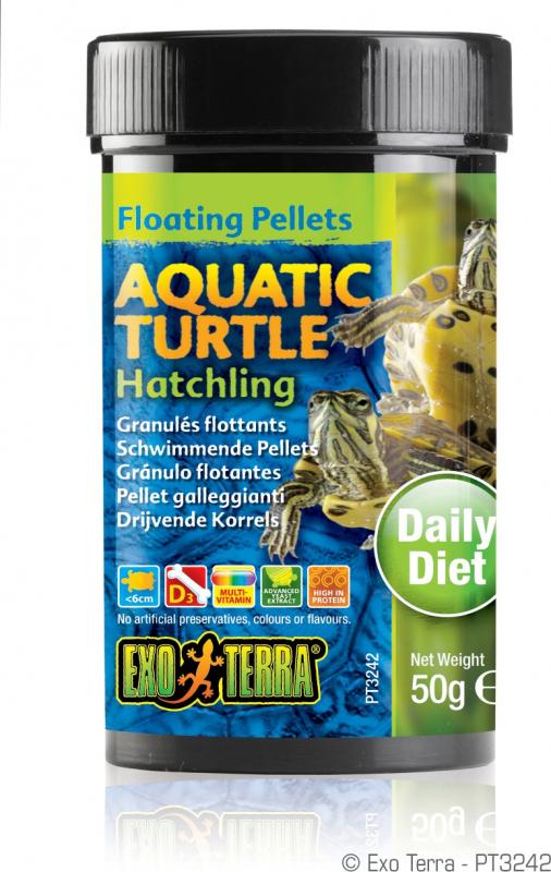Exo Terra granulés flottants pour bébés tortues aquatiques