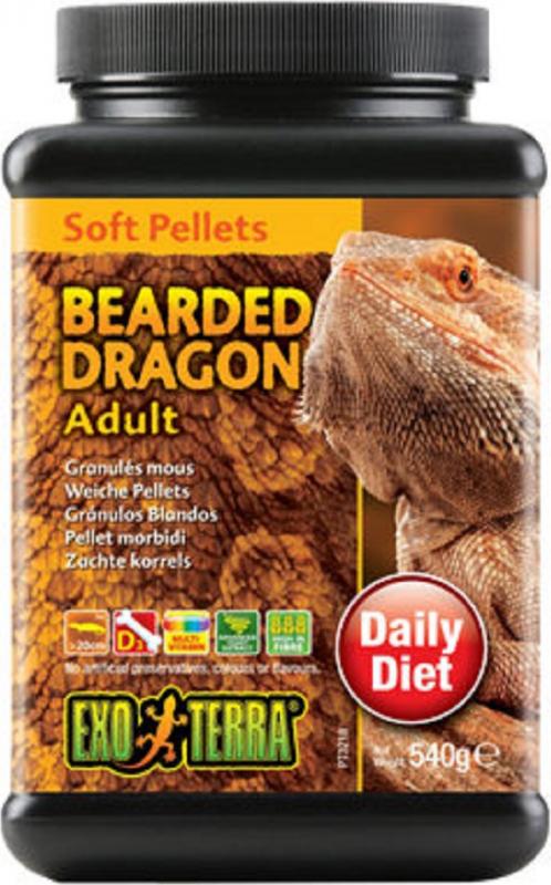 Exo Terra Bearded Dragon granulés mous pour agames barbus adultes