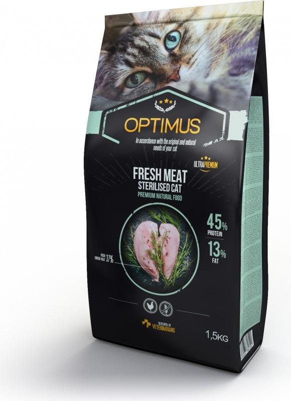 OPTIMUS Fresh Meat Gatto adulto sterilizzato al pollo fresco senza cereali