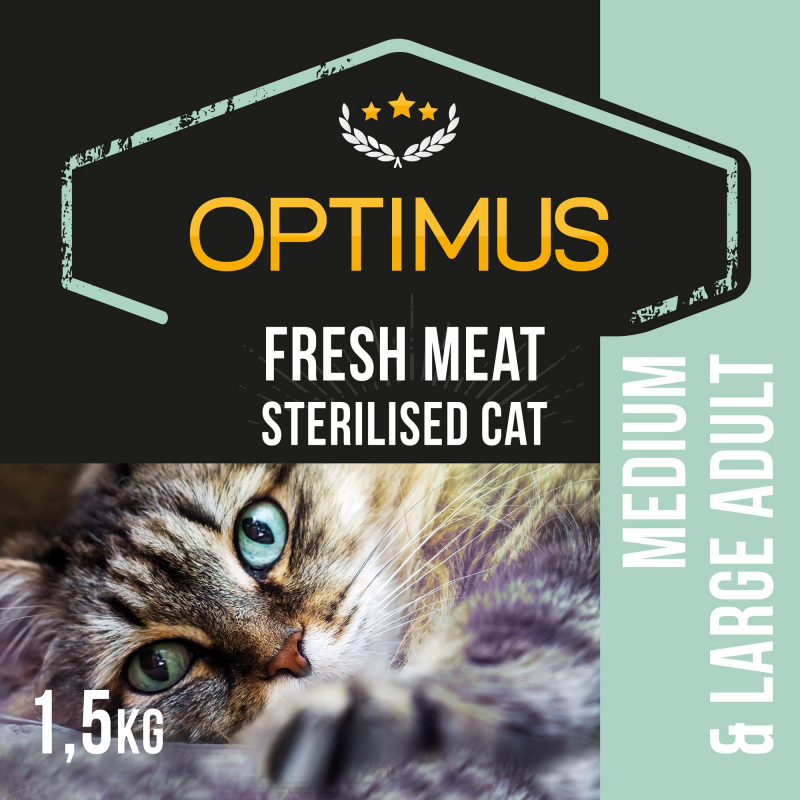 OPTIMUS Fresh Meat Chat adulte stérilisé au poulet frais sans céréales