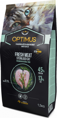 OPTIMUS Fresh Meat Gatto adulto sterilizzato al pollo fresco senza cereali