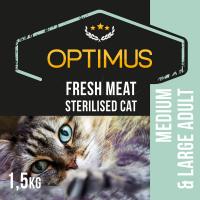 OPTIMUS Fresh Meat mit Hühnchenfleisch, getreidefrei für sterilisierte erwachsene Katzen