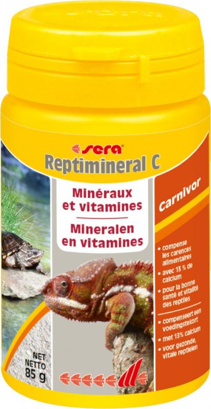 Sera Reptimineral C alimento complementario para todos los reptiles carnívoros