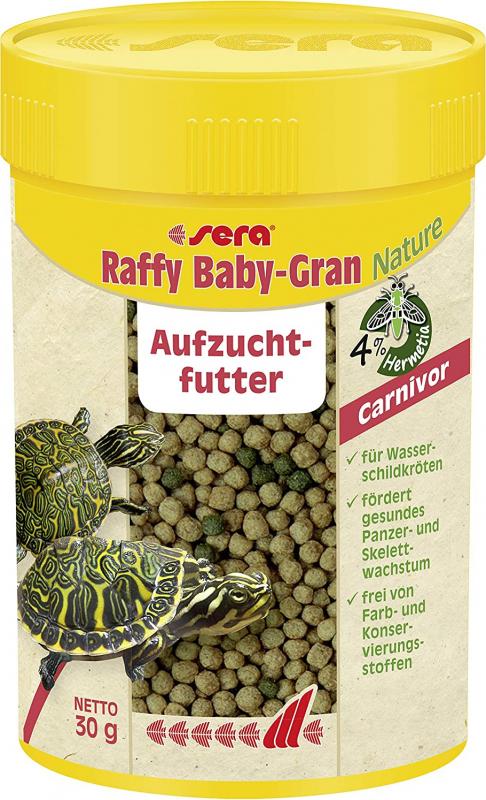 Sera Raffy Baby Gran Nature mini-granulés pour jeunes tortues aquatiques