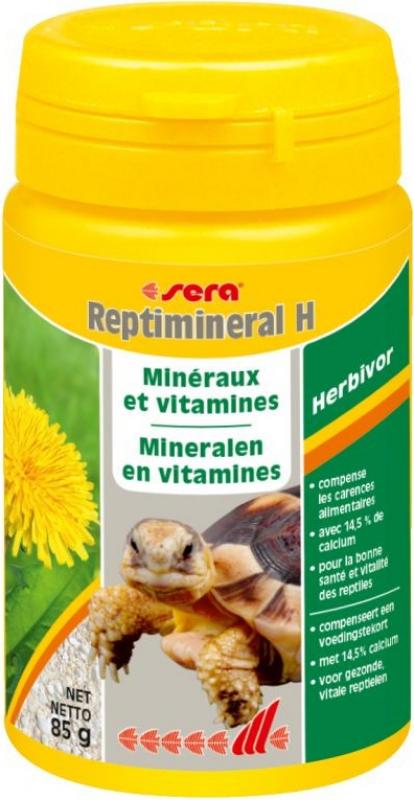 Sera Reptimineral H supplément de minéraux et vitamines en poudre pour les reptiles herbivores