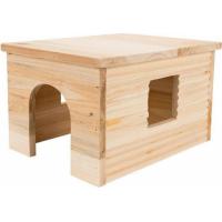 Casa tetto con tronchi per Coniglio