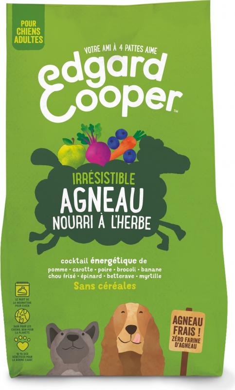 Edgard & Cooper Agneau frais Sans Céréales Hypoallergéniques pour chien Adulte