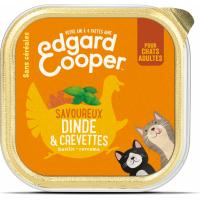 Edgard & Cooper Getreidefreies Nassfutter in Döschen mit frischer Pute und Garnelen für erwachsene Katzen