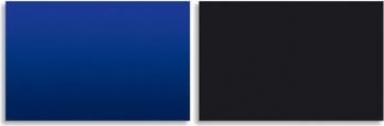 Fond pour aquarium bleu & noir 120 x 50 cm