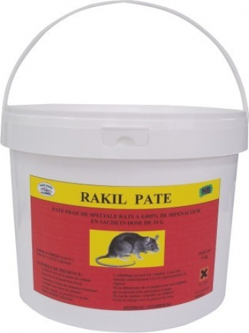 rakil pate p te rodenticide aux propri t s anti coagulantes pour lutter contre les rongeurs rat. Black Bedroom Furniture Sets. Home Design Ideas