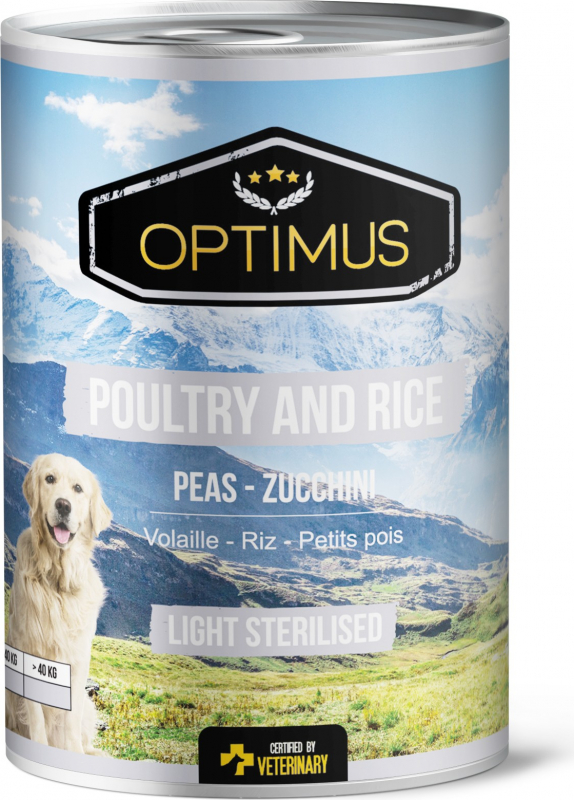 Natvoer Optimus Light - Poultry and Rice