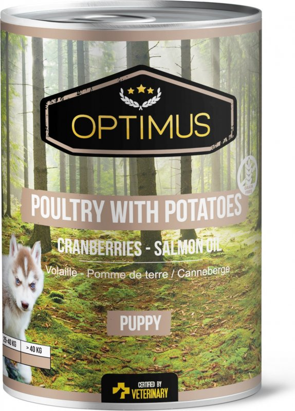 Natvoer Optimus Grain Free Puppy - Poultry with potatoes