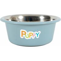 Ecuelle inox chiot Puppy - bleu ou taupe