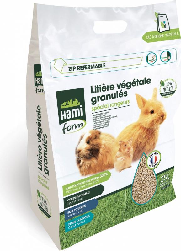 Areia vegetal granulada 100% Ecológica