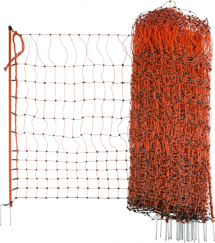Oranje Schrikdraad voor pluimvee