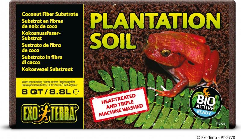 Terre pour plantation Coco Briques, Exo Terra