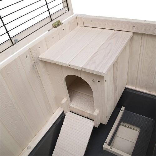 Clapier d'intérieur en bois Cottage pour rongeurs_4