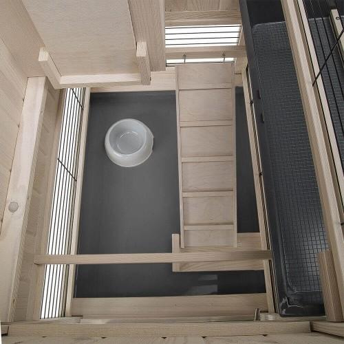 Clapier d'intérieur en bois Cottage pour rongeurs_5